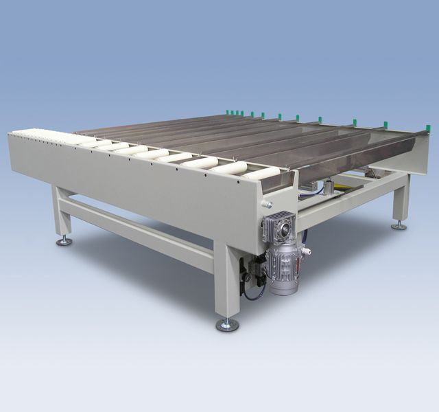 Transfer with comb blades impregnated profiles